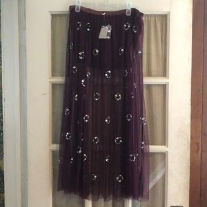Free People - sheer skirt with shorts attached.